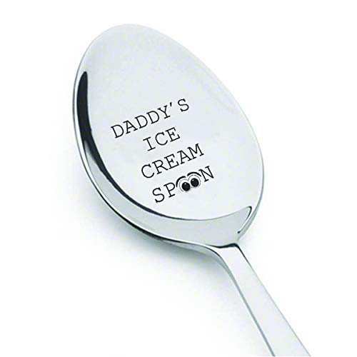 Daddy's ice cream spoon with cute little Eye symbol Father's day gift Spoon Gift for dad Gift for Ice Cream Lover#SP_003