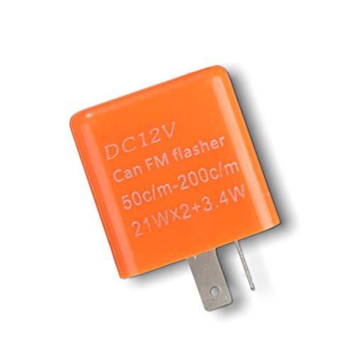 1neiSmartech Rele 12V Con Regolatore Frequenza Lampeggio Frecce Led Indicatori Di Direzione 2 Pin Universale Per Auto E Moto (arancio)