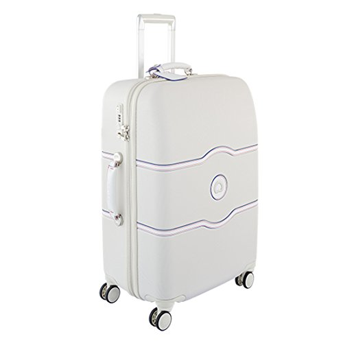 Delsey Chatelet Hard+ M Valigia trolley 4 ruote bianco