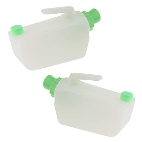 chiwanji 2x Kunststoff Wiederverwendbare Männliche Bett Pee Urinal Flasche Inkontinenz Urin Kann