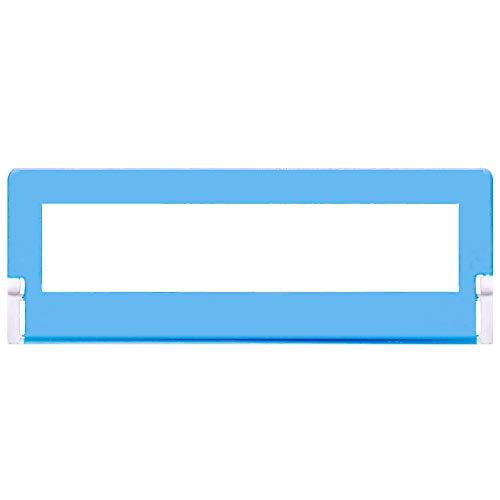 Barrera de Protección de Cama para Niños, Barrera de Seguridad Anti-Caída, Portátil y Estable para Cama Nido de 120 CM (Azul)