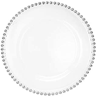 Best glass chargers with silver beads Reviews