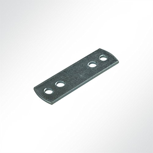 LYSEL Zinc Plated Counter Plate for Belt and Clamp 200 Stück, 20x66 mm (BxL) grey