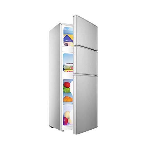 FRIDGE 108L Dreitürige Kühlschrank Kühlschrank Mit Gefrierfach Einstellbarer Thermostat Mit Regal Standkühlschrank Gemüsefach Kühl-Gefrier-Kombination Freisetehnd 100CM