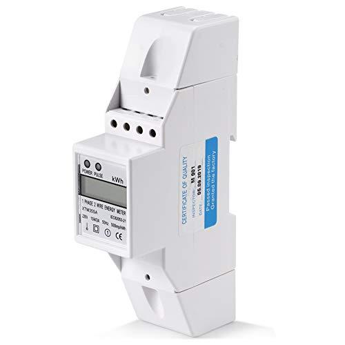 Stromzähler Hutschiene DIN Schiene Stromzähle 10-40A Einphasig Digital LCD Elektronische KWh Meter Energie sparen 120/230V AC