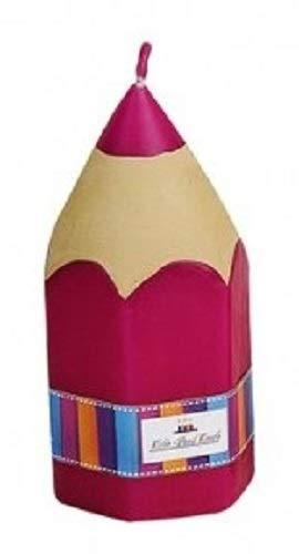 Miss Lovely Stumpen-Kerze Kerze BUNTSTIFT Geschenk-Idee erster Schultag Einschulung ABC-Schützen Junge-n MädchenTisch-Deko Dekoration Kinder-Geburtstag in 4 Farben erhältlich - 1 Stück pink