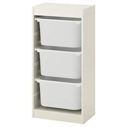Trofast IKEA Regal, Aufbewahrung mit Boxen 46x30x94 cm Set NEU (Regal weiß/Boxen weiß)