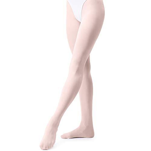 tanzdunsje Collants de danse classique fille pour tout-petits enfants femmes adulte rose blanc noir