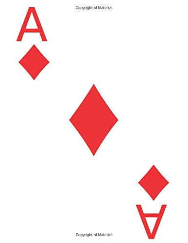 Ace of Diamonds Playing Card Design (Blank Lined Journal / Notebook)