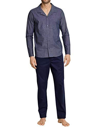 Seidensticker Herren Pyjama lang 163707 Zweiteiliger Schlafanzug, Blau (Nachtblau 804), 50