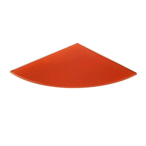 Estante Estantería de Cristal Templado Depot, (10Unidades), Color Naranja,