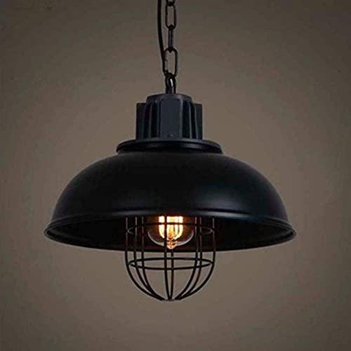 XKUN Lámpara Colgante Retro Vintage Lámpara de Techo Industrial Lámpara de Techo Zócalo de Metal Lámpara Colgante de Altura Ajustable Cocina Comedor Habitación para Niños Restaurante Lámpara Colgante