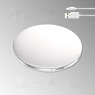 مرايا مكياج - مرآة مكياج بإضاءة LED جديدة مع مصباح إضاءة صغير مرآة مستحضرات التجميل مع مرآة صغيرة قابلة للطي على الوجهين (...