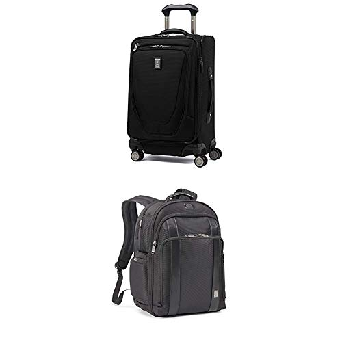 Travelpro Luggage Crew 11 21' Carry-on + Laptop Backpack (Black)