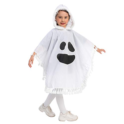 Spooktacular Creations Child Girl Ghost Scary Fanny Dress Costumes (Toddler (3-4yr)) White
