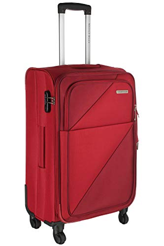 Nasher Miles Texas 24 Inch ,Check-in,Expander, Soft-Sided, Polyester Luggage, Red 65cm Trolley Bag