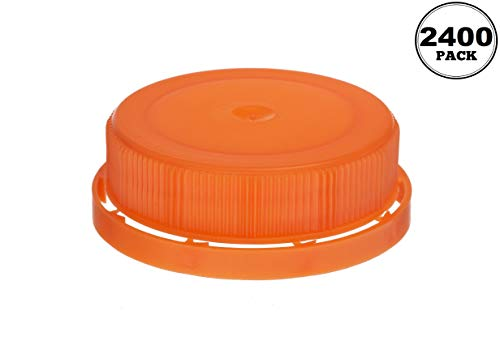 Amazing Deal [2400 PACK] 38MM Orange Tamper Evident Ratchet Caps/Lids by EcoQuality