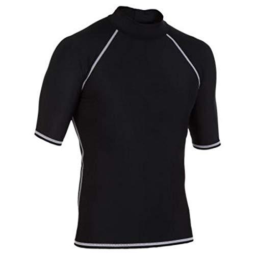 Jakiload Zonnebescherming voor heren, badpak met korte mouwen, strak, warm surfend zwemshirt