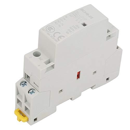Contactor de CA - YWBL-WH AC240V 25A 2 CAna 2P Domestico Cerrado CA Contactor 35mm Carril DIN