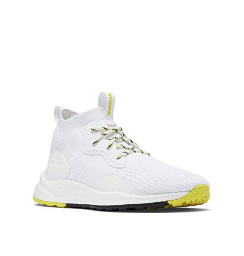 Columbia Zapatos de senderismo Sh/Ft Mid Breeze para mujer, blanco (Blanco/Amarillo Mineral), 38.5 EU
