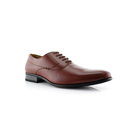 Delli Aldo Frank M19121 Men's Classic Oxford Lace Up Dress Shoe (9.5 D(M) US, Brown)