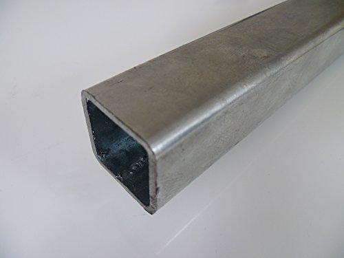B&T Metall Stahl Vierkantrohr VERZINKT 30 x 30 x 2 mm in Längen à 2000 mm +0/-3 mm Quadratrohr ST37 feuerverzinkt Hohlprofil Rohstahl