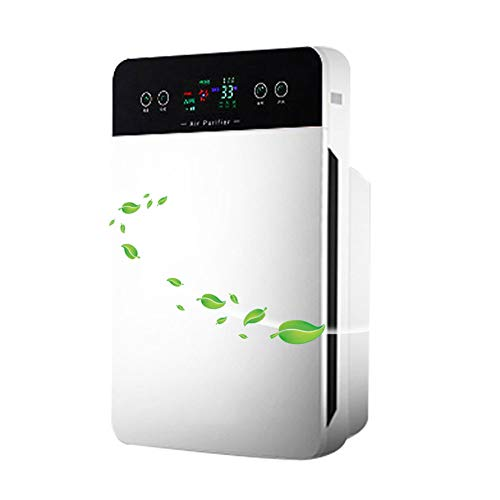 Affordable Air Purifier with True HEPA Filter, Quiet Air Cleaner 4 Layers Filtration Timer 6 Colors ...