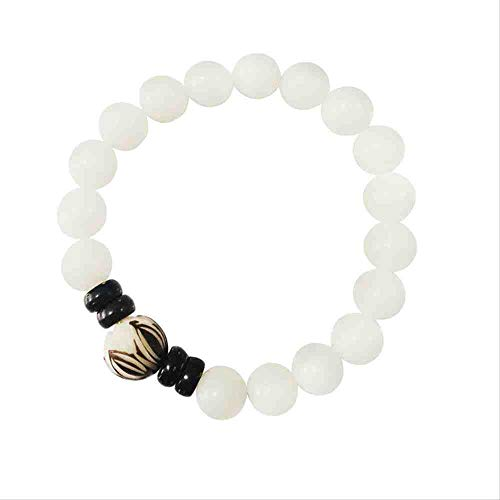 JYHW Trendy Natural Skin Removal Bodhi Bead Bracelet Vintage Charm Round Chain Wood Beads Bracelet Jewelry for Women Gift