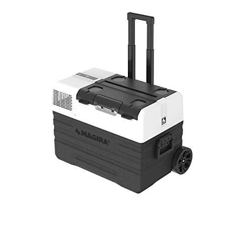 MAGIRA Canada 42 Liter Kompressor-Kühlbox 12/24V und 230V MF42-CA elektrischer Mini-Kühlschrank für Camping, Auto oder LKW mit Steckdose und USB-Anschluss