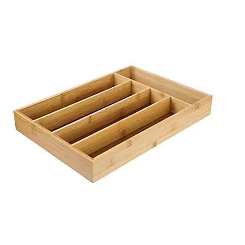 5 Raster Keuken Bamboe Bestekbak Opbergdoos Niet-intrekbare Servies Opbergdoos Keuken Sieraden Gereedschap Lade Organizer