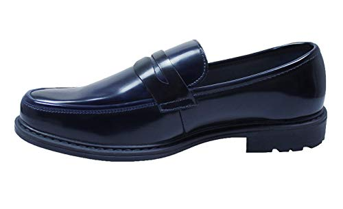AK collezioni Mocassini uomo class blu scuro eleganti scarpe man's shoes cerimonia (43)