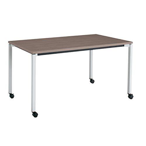 コクヨ ミーティングテーブル JUTO MT-JTK157S81MG5-CN 角形天板 4本脚 角脚 スクエアコーナー 幅150×奥行75cm 天板アッシュブラウン/脚フラットシルバー キャスター付
