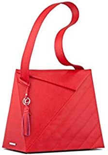 Kaizer KB2110RED Leather Shoulder Bag for Women - Red