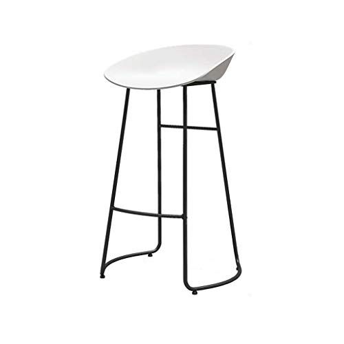 Barkruk Barkruk Hoge kruk Eetkamerstoel Café Keuken Woonkamer Kruk Kantoor Huishoudelijk Ontbijt Stoel Counter Chair Wit (Size : 85cm)