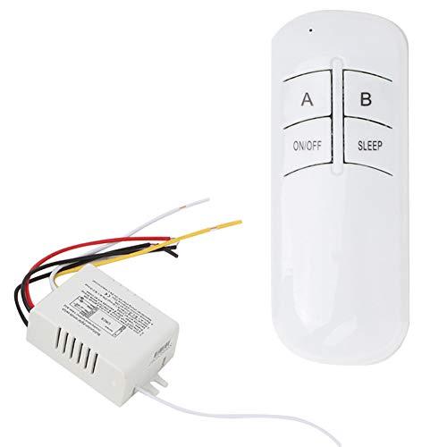 Control Remoto, 2 vías Encendido/Apagado 220 V Receptor de luz de Pared inalámbrico Digital Transmisor Interruptor de Control Remoto