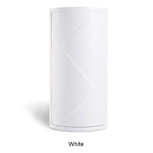 JYKOO Badezimmer-Weißes Dreieck-Regal-Küche-Toiletten-Drehendes Regal-Ecken-Regal-Badezimmer-Speicher-Gestell-Speicher-Kabinett-Ecken-Mehrschichtiges Lagerregal,White