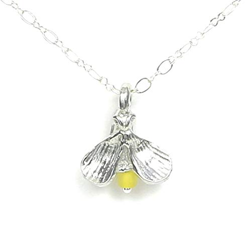 Pewter Firefly Lightning Bug Necklace - Gift Packaged with Chase Your Dreams Story Card - Made in USA