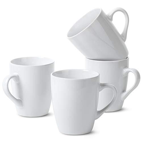 BTaT- White Coffee Mugs, Set of 4, 12oz, Coffee Mug Set, Christmas Coffee Mugs, Hot Chocolate Mugs,...