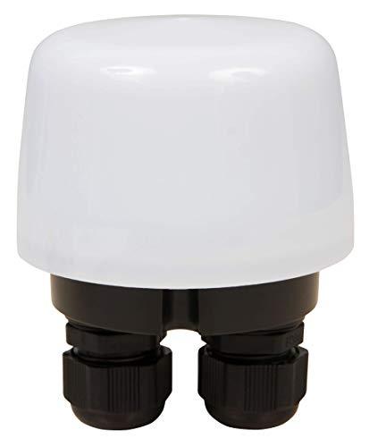 McShine 1530576 - Interruttore crepuscolare 230 V/15 A, IP66, 5-50 Lux regolabile, 230 V