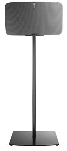 Cavus CSP5B-Single Lautsprecherständer für Sonos Play: 5 Gen2 (für horizontale Einrichtung), Schwarz