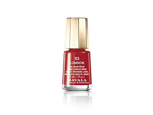 Mavala Mini Colors Pintauñas | Esmalte de Uñas | Laca de Uñas | 47 Colores Diferentes, Color London 53 (Rojo), 5 ml