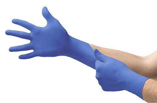 Microflex N193-Box Cobalt Exam Gloves, PF Nitrile, Textured, Blue, Large (Pack of 100)