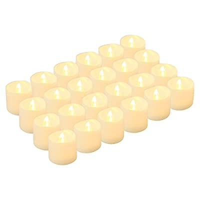 LED Tea Lights Candles, Kohree Flameless Candles Battery Operated LED Candles, Flickering Tealight Candles, Warm White, Pack of 24