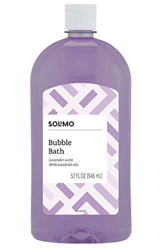 Amazon Brand - Solimo Lavender Bubble Bath, 32 Fluid Ounce