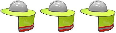 ML Kishigo 2873-6 Ranking TOP4 Full Brim Sun discount Pack Color Shield Lime 3 Inclu