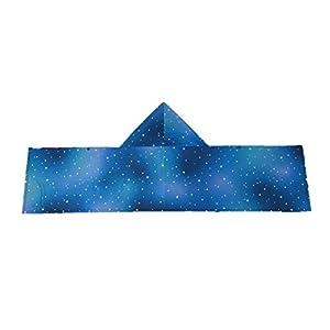 クールタオル フード付き 冷感タオル ひんやり 冷却タオル おしゃれ 全4柄 フリーサイズ UVカット ビーチタオル かわいい 日本製 ボタン (星ネイビー)