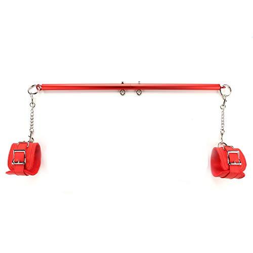 Sovyime Red Adjustable Spreader Bar with 2 Fur Red Kit