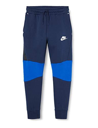 Nike Kinder Sportswear Tech Fleece Jogginghose, Midnight Navy/Game Royal/White, S