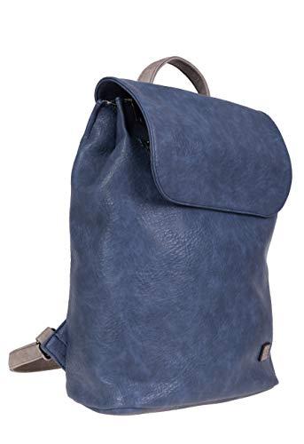 BERNARDO BOSSI Hochwertiger Damenrucksack Rucksack Damen Daypack Frauen Tagesrucksack Tasche Verschiedene Modelle (M2 blau/grau)
