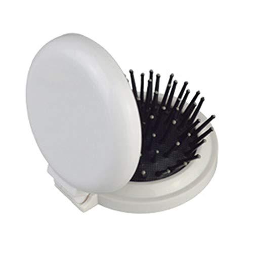 Mini brosse à cheveux pliable et portable avec miroir de voyage pour filles